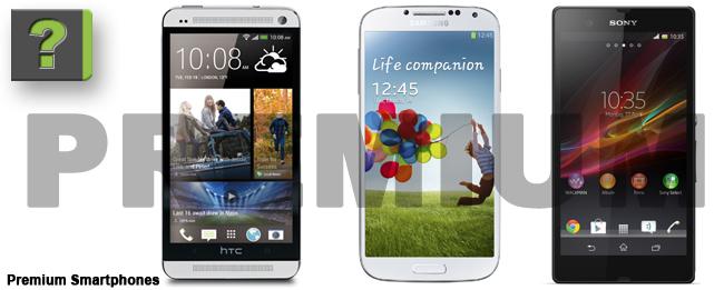 Galaxy S4, Sony Xperia Z, HTC One