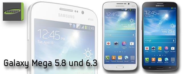 Samsung Galaxy Mega Größenvergleich