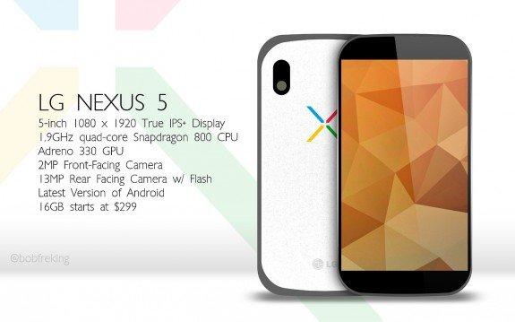 Konzept-Entwurf des Nexus 5