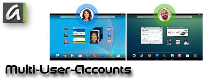 Multiuser-Konten unter Android