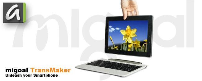Migoal Transmaker: Galaxy S4 Tablet-Dock jetzt bei IndieGoGo