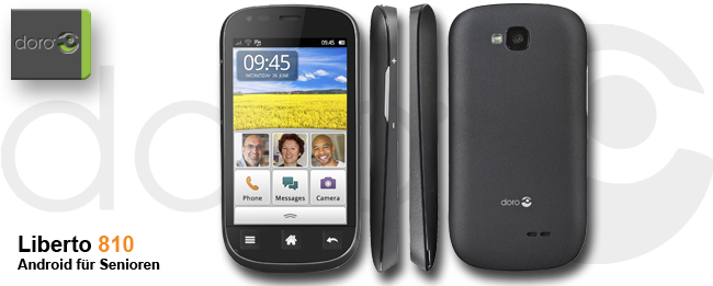 Liberto 810: Neues Senioren-Smartphone von Doro