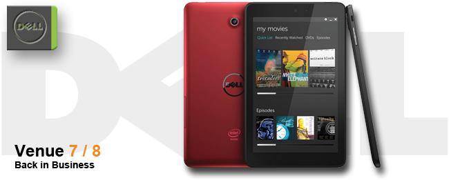 Dell Venue 7 und Venue 8, die Rückkehr zu Android
