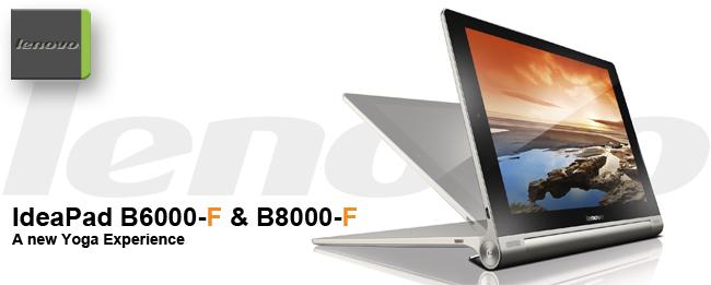 Lenovo Yoga mit Android: IdeaPad B6000-F und B8000-F
