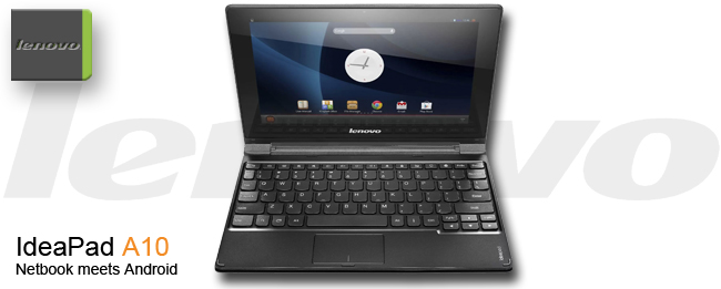 Lenovo IdeaPad A10: Netbook-Convertible mit Android