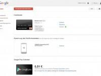 Google Wallet Zahlungsmethoden