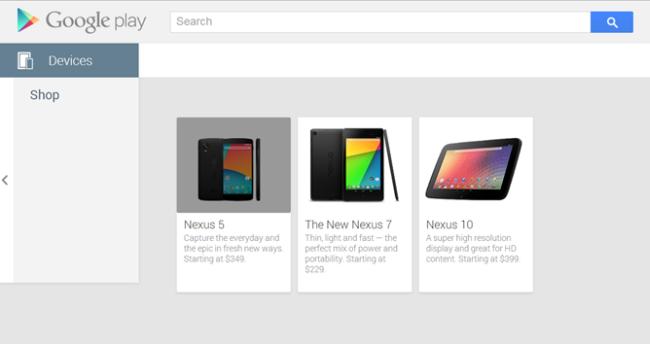 Nexus 5 im Google Play