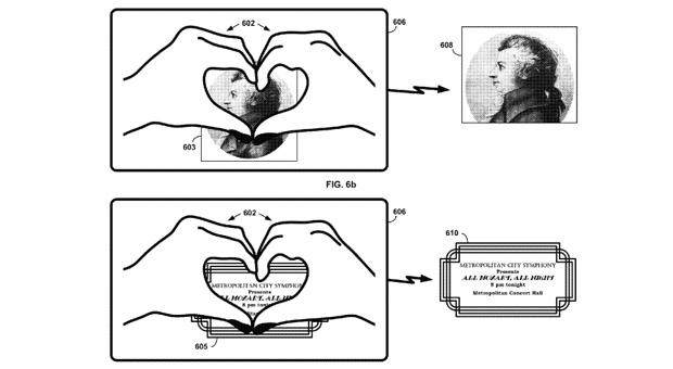 Google Patent für Google Glass mit Hand-Gesten