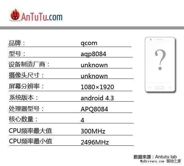 Qualcomm APQ8084 entdeckt
