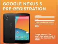 Nexus 5 Vorbesteller-Seite