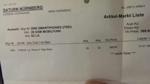 Nexus 5 bei Saturn