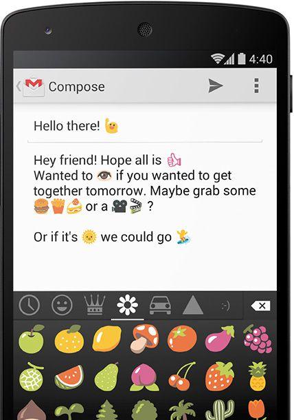 Google Tastatur mit Emojis