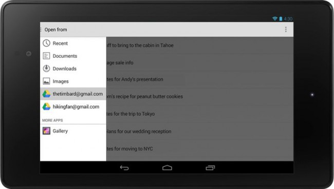 Android 4.4 Cloud Dienste