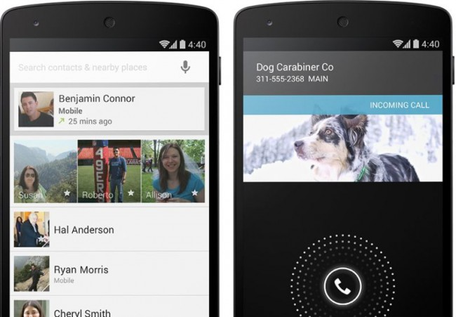 Android 4.4 Telefon und Kontakte