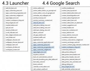 Android 4.4 Google Suche - XML Layout-Dateien