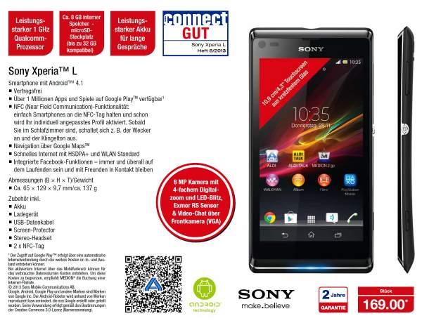 Sony Xperia L bei Aldi