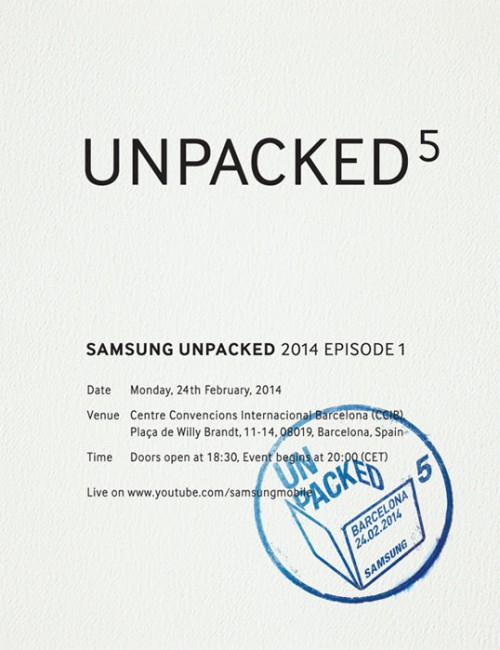 Galaxy S5 Einladung
