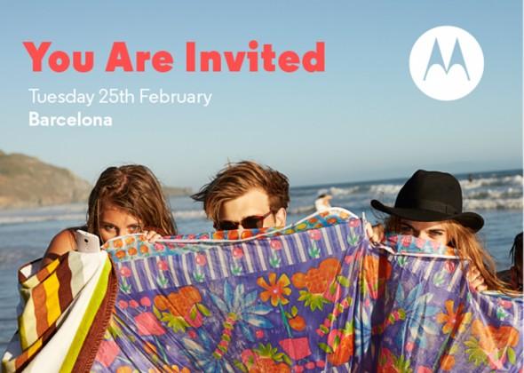 Motorola Einladung MWC 2014
