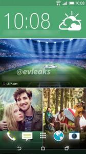 HTC One 2 Homescreen Leak