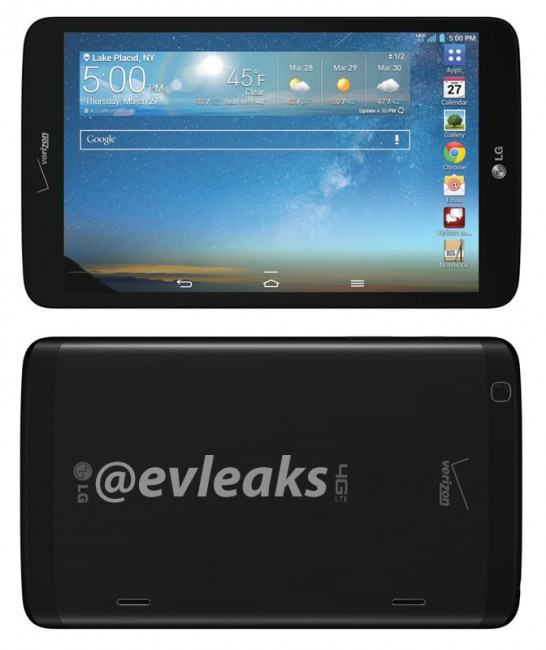 LG G Pad 8.3 LTE für Verizon Wireless