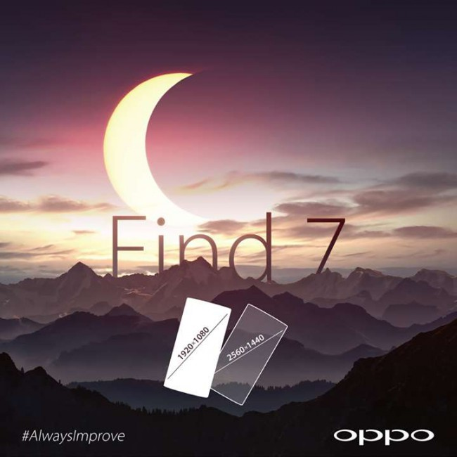 Oppo Find 7 Teaser für zwei Versionen