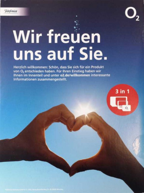 O2 Germany 3-in-1-SIM-Karte