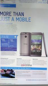 HTC One 2 Telstra Broschüre