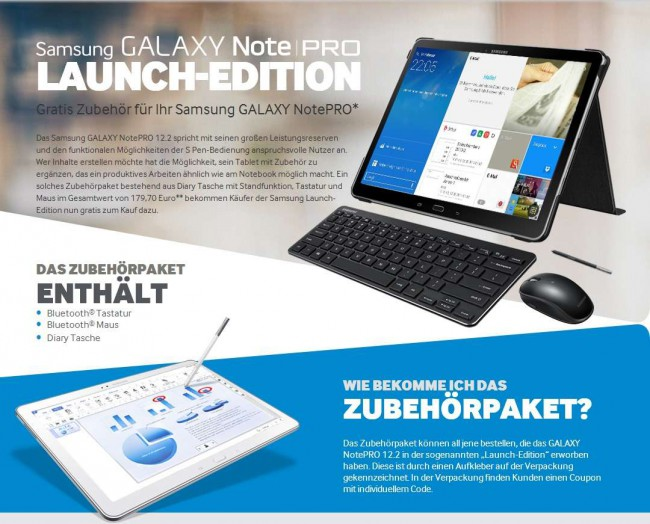 Samsung Galaxy notePRO 12.2 Launch Edition