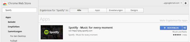 Spotify auf dem Chromecast