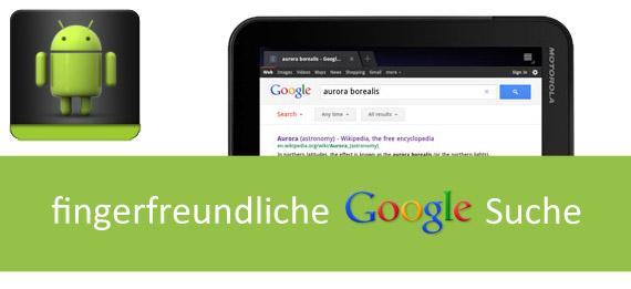 Google Tablet Search Artikelbild