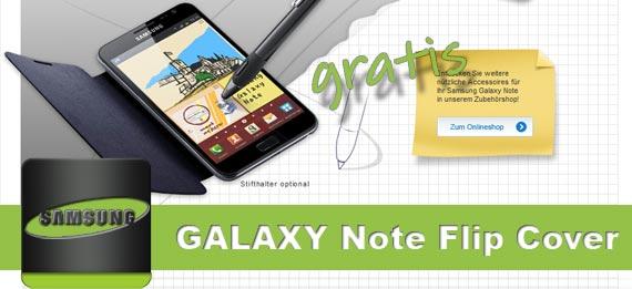 Gratis Flip Cover für das Samsung Galaxy Note wird ab nächste Woche ausgeliefert