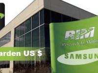 Research in Motion (RIM) bietet sich Samsung zum Verkauf an