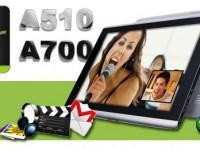Acer gibt Details zum A700 und A510 preis
