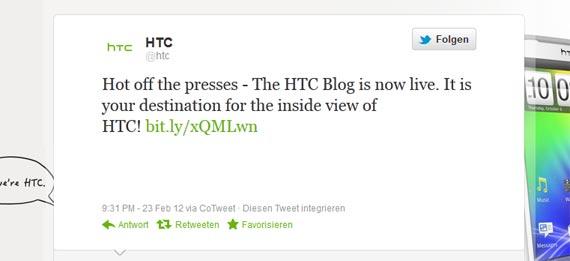HTC Blog Twitter