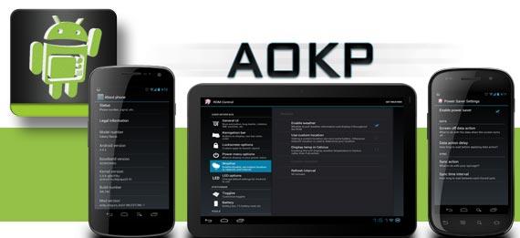 AOKP Custom Rom mit neuem JB Build 2 und mehr unterstützen Geräten