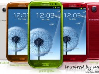 Galaxy S3 / SIII in cherry red, grass green und lumber brown?
