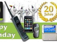 Runder Geburtstag: 20 Jahre Mobilfunk in Deutschland