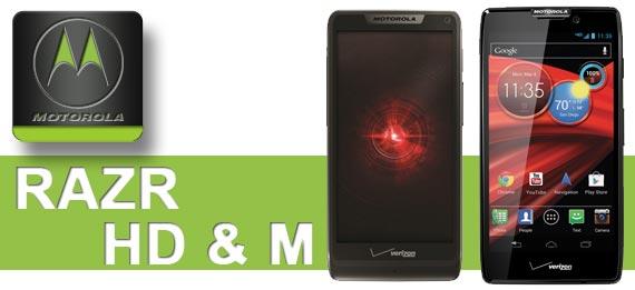Motorola RAZR HD und RAZR M