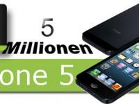 Apple-Hype geht weiter: Bereits 5 Millionen iPhone 5 verkauft