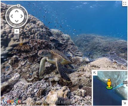 Google Maps underwater