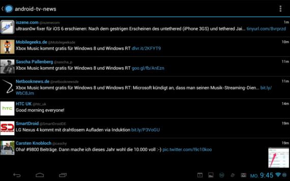 Nexus 7 Querformat