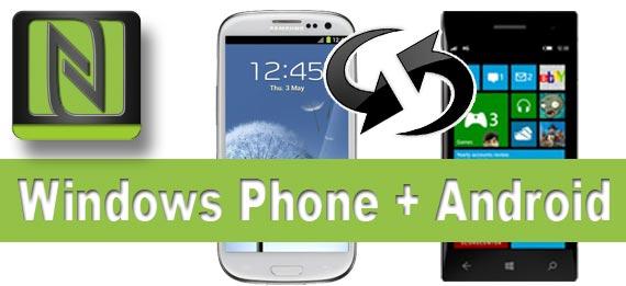 datenaustausch zwischen windows phone und android per nfc. Black Bedroom Furniture Sets. Home Design Ideas