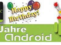 5 Jahre Android – Ein mobiles Betriebssystem feiert Geburtstag