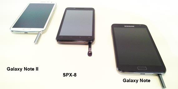 SPX 8 vs Note 1 vs Note 2