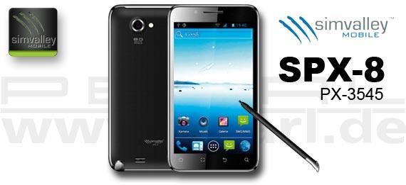 Refresh mit Dualcore und Eingabestift: SimValley Mobile SPX-8