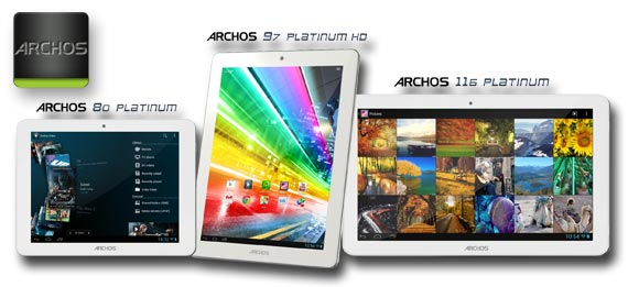 Archos Platinum Series: Neue Budget-Tablets mit viel Technik