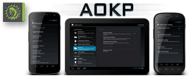 AOKP ist zurück mit dem Jelly Bean MR1 Milestone 2