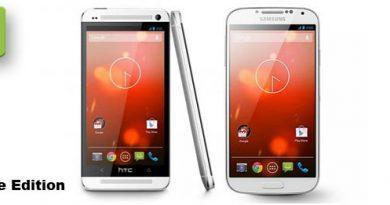 Google Edition von Galaxy S4 und HTC One