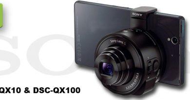 Sony DSC-QX10 & DSC-QX100 Objektiv