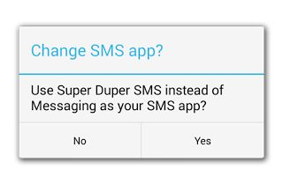 Android 4.4 KitKat SMS Default-App Wechsel